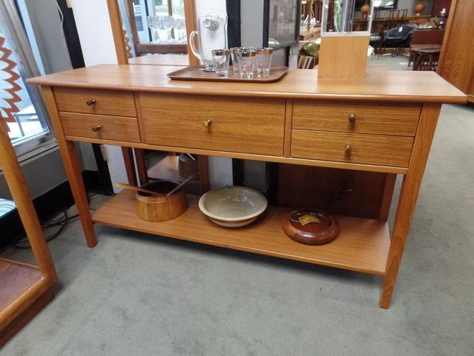 Danish Modern Teak console table