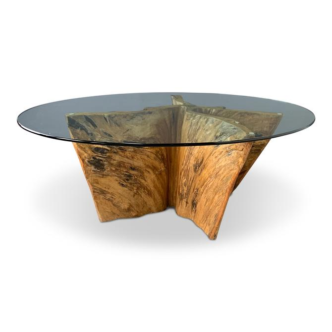 Cypress Wood Tree Trunk Dining Table
