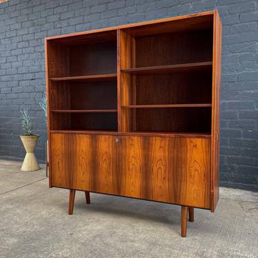 Danish Modern Brazilian Rosewood Bookcase by Carlo Jensen, 1960's by VintageSupplyLA