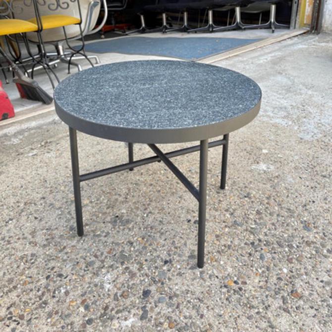 Black Granite Outdoor Side Table