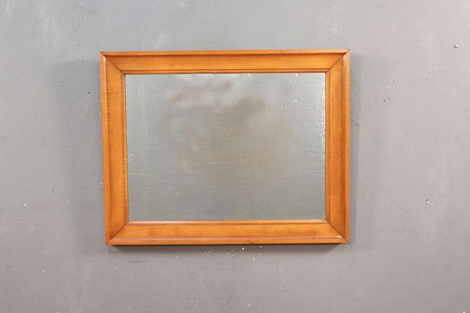 Simple Light Wood Horizontal Mirror