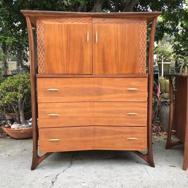 Mid Century Modern Dresser Highboy Designed By Piet Hein Circa 1960's Free Continental US Shipping by ModernFlamingo