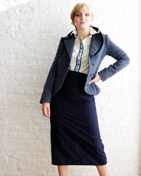 CALVIN KLEIN 205W39NYC Tailored Midi Skirt, Size 8