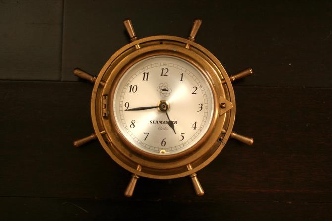 vintage Seamaster brass ship clock/made in West Germany by suesuegonzalas