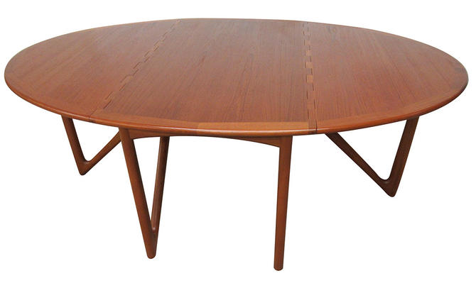 Mid Century Drop Leaf Dining Table by kurt Ostervig by SputnikFurnitureLLC