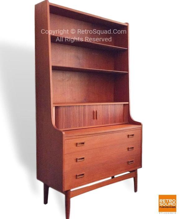 Danish Modern Teak Secretary Desk Dresser from Denmark Designed by Borge Mogensen for Soborg Mobelfabrik by RetroSquad