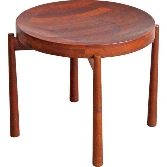 jens quistgaard round butcher block tray top table from modern montage of arlington va attic. Black Bedroom Furniture Sets. Home Design Ideas