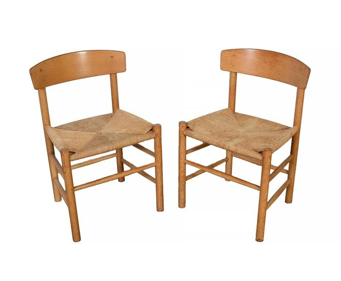 Borge Mogensen Shaker Chairs Set of 4 J39 Folkestolen Chairs The Peoples Chair by HearthsideHome