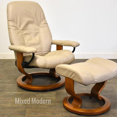 Ekornes Stressless Reclining Lounge Chair & Ottoman by mixedmodern1