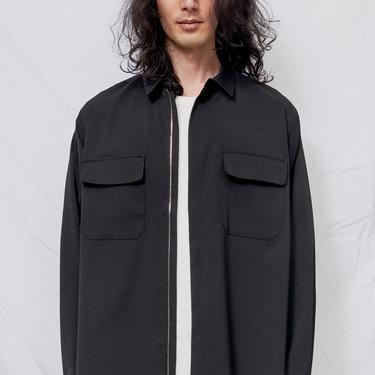 Black Suiting Zip Poet Shirt