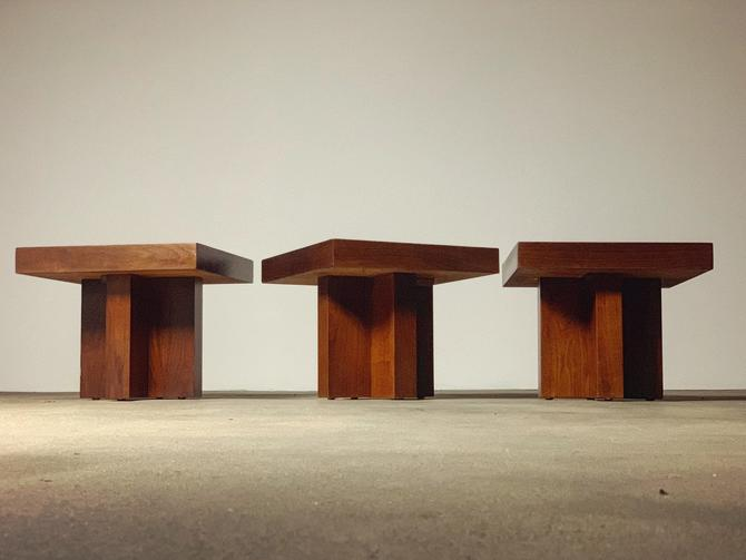 Milo Baughman Cruciform Tables Grouping by midcenTree