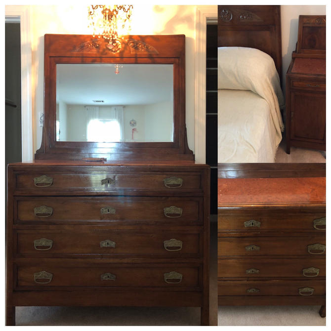 Antique Italian bedroom set by RustandRefind