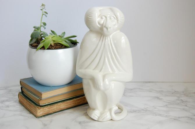 Mid Century Modern Baboon Statue JARU California Ceramic Art Pottery Sculpture 1975 RARE by PursuingVintage1
