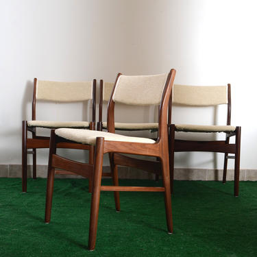 set of 4 vintage midcentury dining chairs by fingerlickingvintage