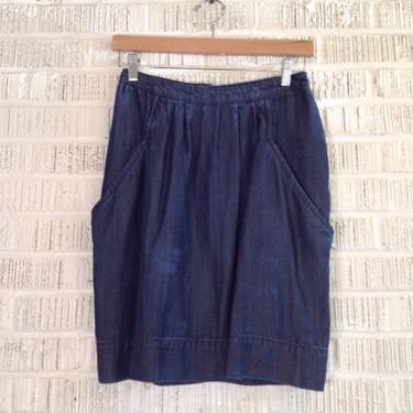 Zara Woman Size S Indigo Skirt