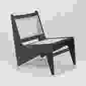 Tribute Jeanneret Kangaroo Chair in Black Gloss Mahogany