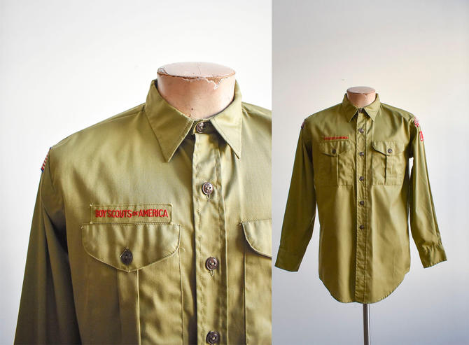 Vintage Boy Scouts of America Uniform Shirt by milkandice