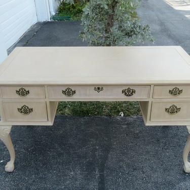 Chippendale style Ball and Claw Feet Oak White Wash Desk 2141