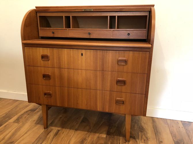 Egon Ostergaard Teak Roll Top Desk