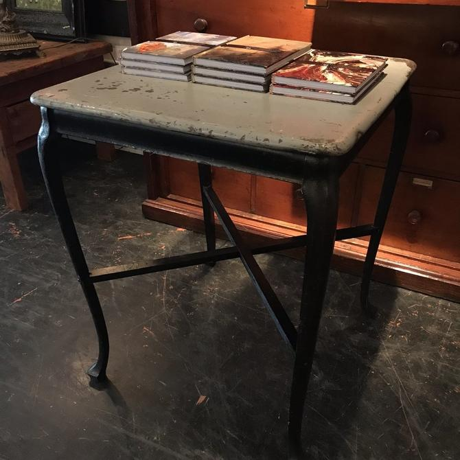 Gray and Black Side Table