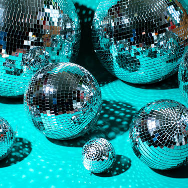 """DISCO BALL party mirror ball 70s party 6"""" 8"""" 10"""" 12"""" 16"""" 20"""" 24"""" by LivingColorfullyShop"""