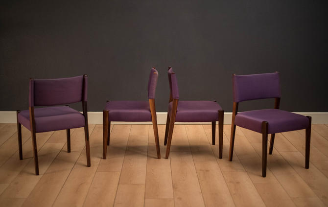Vintage Set of Four Rosewood Dining Chairs by Sergio Rodrigues by MidcenturyMaddist