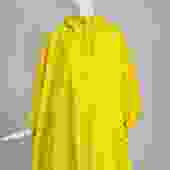 Vintage A Line Anne Klein Bright Yellow A Line Zip Front Jacket with Hood