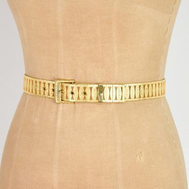 1970s Brushed Gold Belt | 70s Gold Mesh Belt by GlennasVintageShop