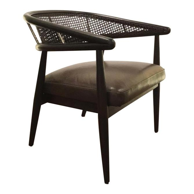 Cyan Co. Charcoal Tufted Transitional Sultry Lounge Chair