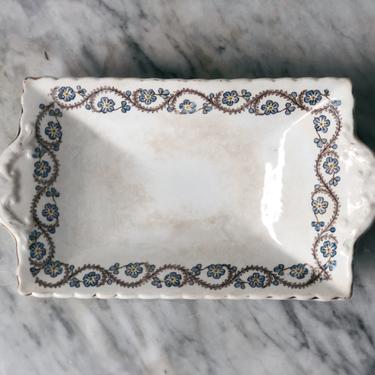 Antique Ironstone Rectangular Dish by AnticaMarket