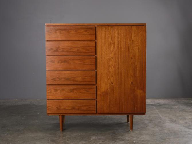 Danish Modern Teak Gent's Chest Dresser Mid Century by MadsenModern