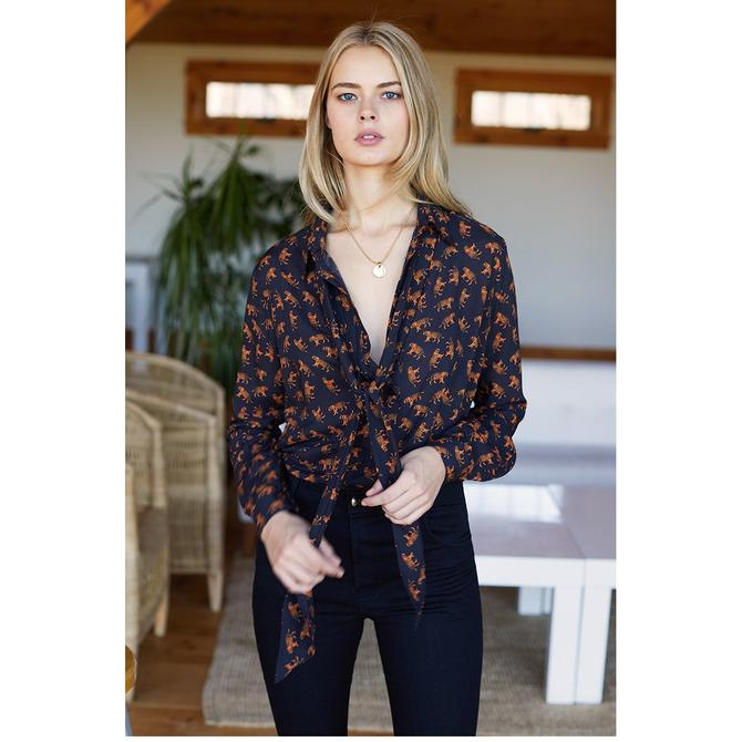 Emerson Fry Ribbons Blouse Tiger