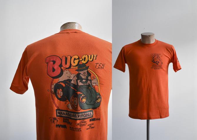 Orange 1980s Volkswagen Bug Out Tee by milkandice