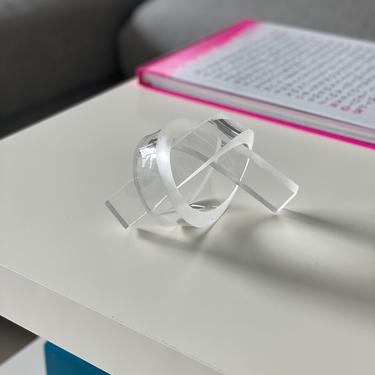 Bookshelf Knot, Object for the Home, Art Knot, Knot Sculpture, Acrylic Knot, Love Knot, Lucite Sculpture, Lucite Knot, Birthday Gift,Wedding by CHOFA