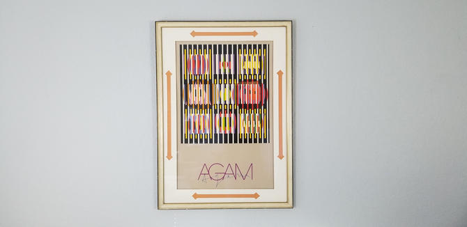 """Yaacov Agam """" Op Art """" Lithograph , Signed . by MIAMIVINTAGEDECOR"""