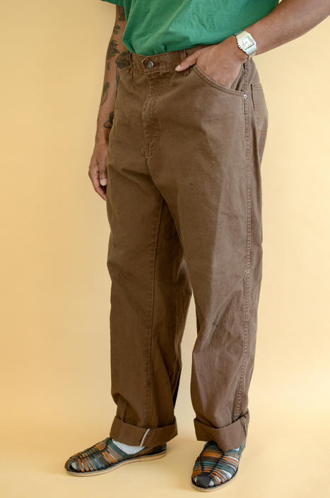 Reclaimed Green Dickies Carpenter Jeans Pants Trousers Brown Military 36x35 36x36 36x34 by MAWSUPPLY