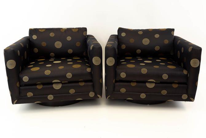 Harvey Probber Swivel Club Lounge Chair