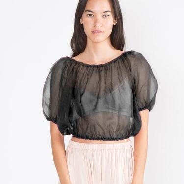 Carlisle Top, Silk Organza in Black
