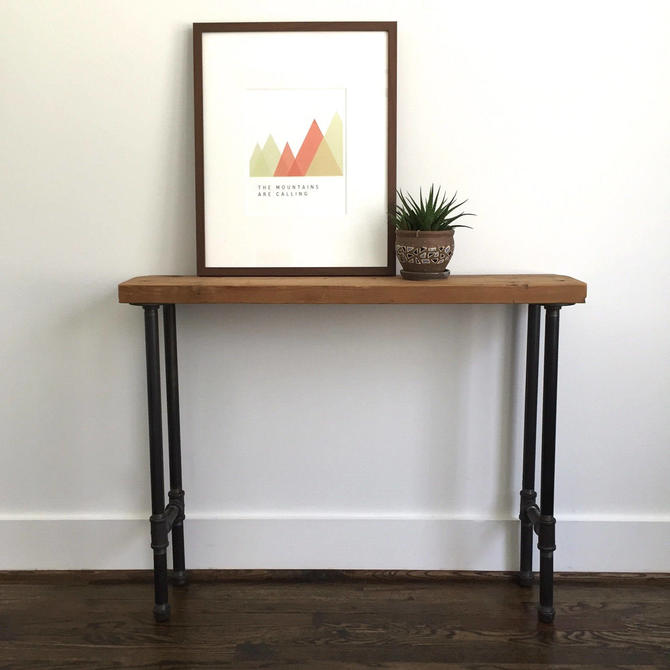 """CUSTOM """"Frye"""" Console Table - Reclaimed Wood & Pipe Console Table by arcandtimber"""