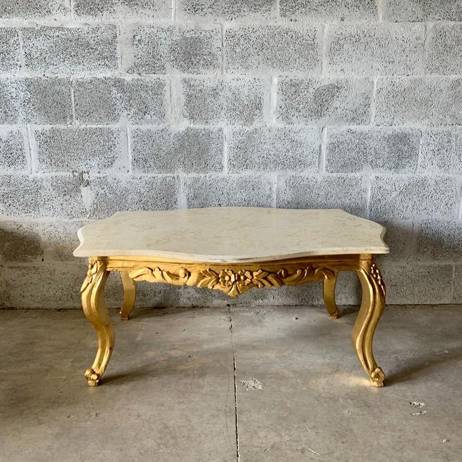 Baroque Coffee Table Beige Marble Table French Table Rococo Table Baroque Table French Furniture Table Antique Furniture Gold Coffee Table by SittinPrettyByMyleen