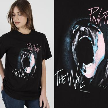 Pink Floyd T Shirt /  Winterland The Wall Tour T Shirt / Vintage 90s Dark Side OF The Moon / 1982 Band Rock Tee Large L by americanarchive