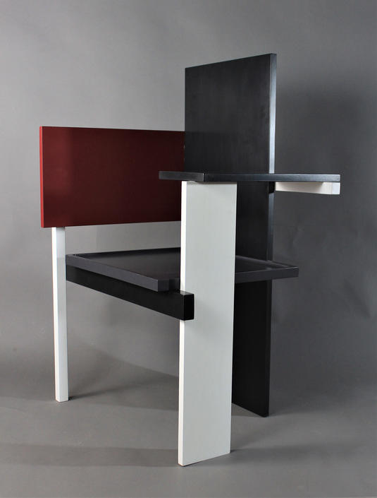 Custom Built Gerrit Rietveld Berlin Chair Bauhaus Art Deco De Stijl Message for Shipping Quote by GRWoodworker