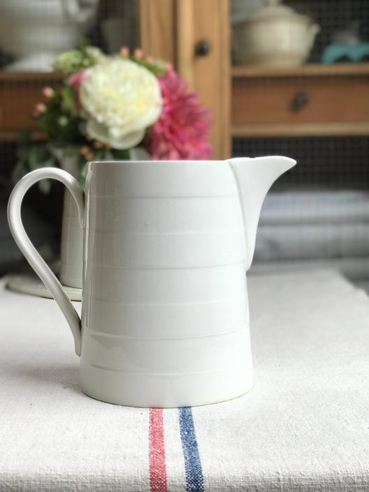 Beautiful vintage Dutch ironstone  pitcher-DIP by Grainsacfrenchvintag