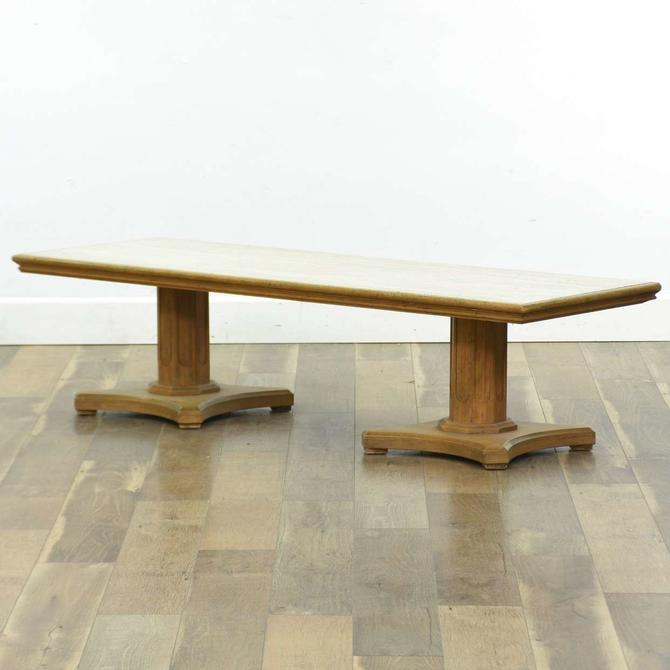 W & Z Mid Century Regency Stone Top Coffee Table