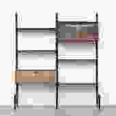 WeBe 2 Section Shelving Unit by Louis Van Teeffelen