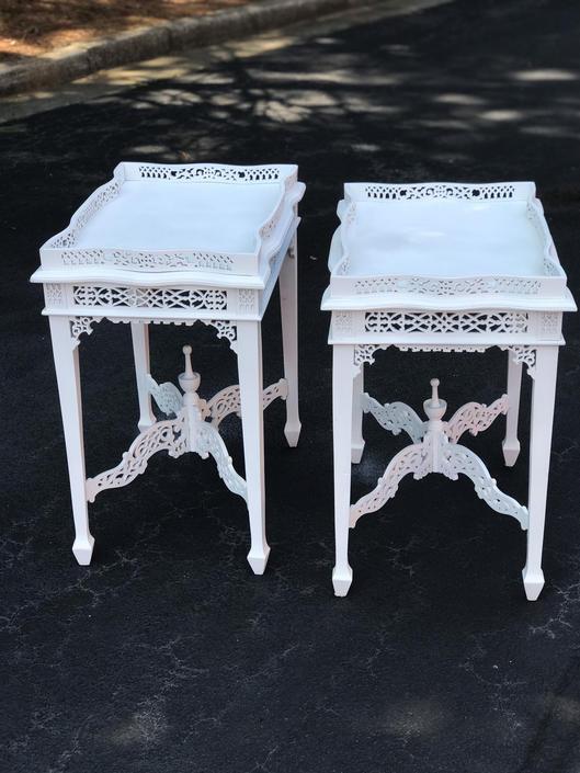 Vintage English regency tray top tables. by HolbrookBazaar