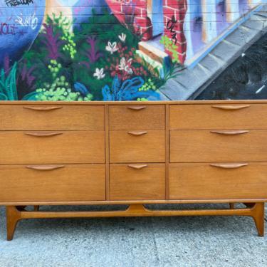 "American danish 66"" long 9 drawer dresser credenza oak mid century nice design very clean lane by symmetrymodern"