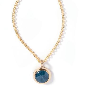 Apatite Rim Pendant Necklace