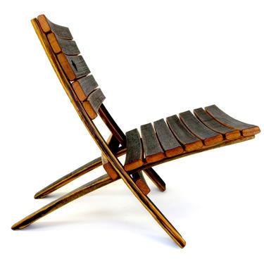 Bourbon Barrel EZ Chair - Beach Chair - Barrel Furniture - Whiskey Barrel by HungarianWorkshop