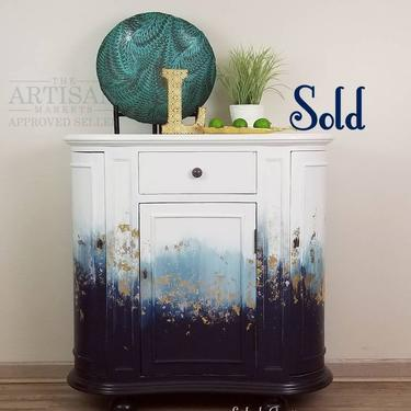 SOLD Entryway Table. Console Media Table. Living Room Storage Cabinet. Dining Kitchen Small Buffet Cabinet. by LuebeckCreations